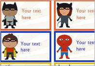 Editable Superhero themed items for classroom - certificates, labels, rules poster, display banner, etc.