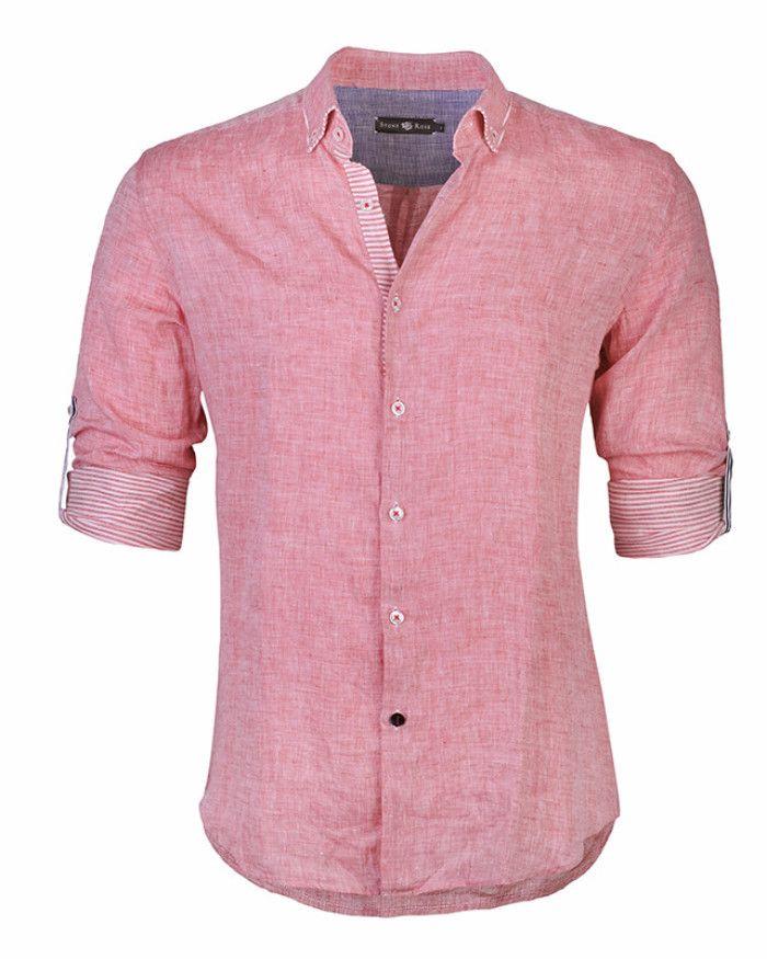 Stone Rose Linen Shirt Cairo Red Men S Fashion
