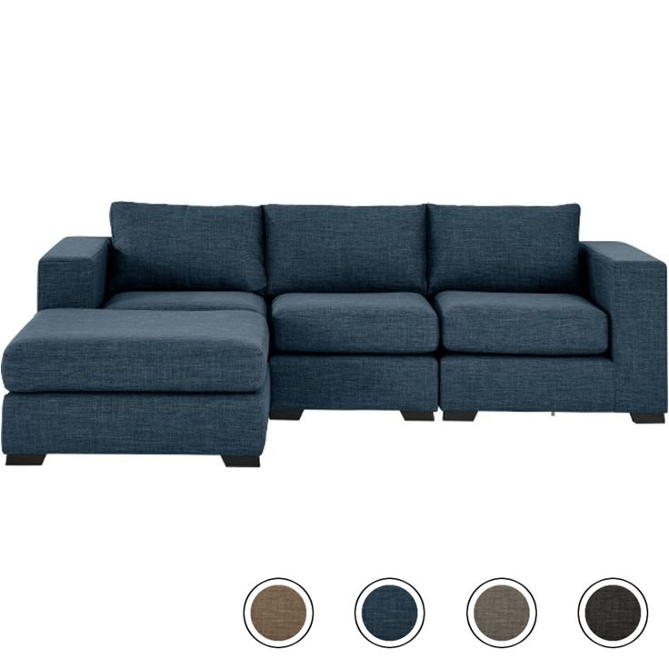 Mortimer 4 Seater Modular Corner Sofa, Harbour Blue from Made.com. A generously proportioned sofa that fits around you - with individual modular uni..
