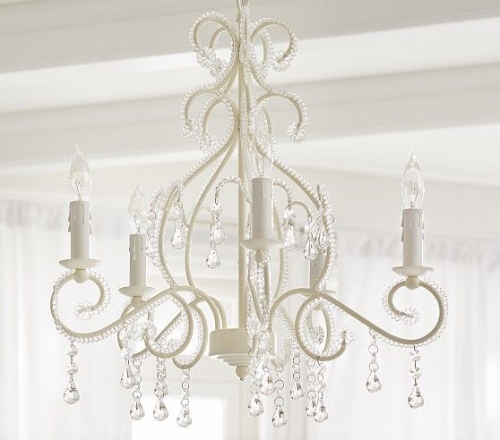 White Lydia Chandelier From Pottery Barn Kids