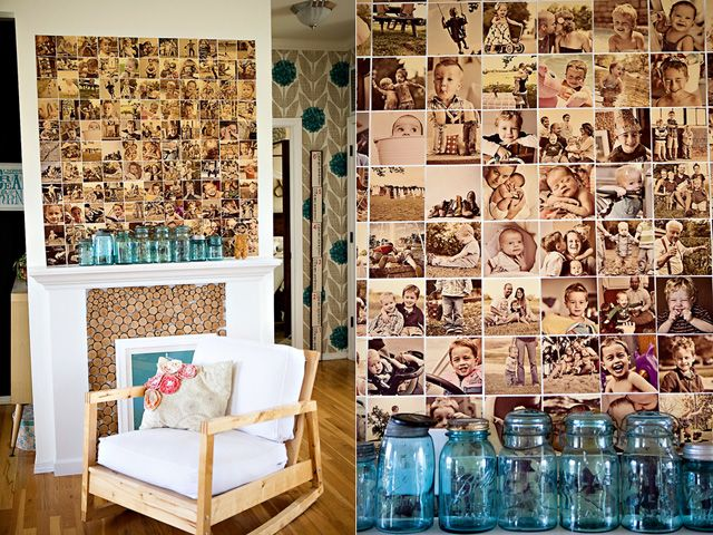 .: Wall Photo, Wall Collage, Ideas, Craft, Photo Walls, Family Photos, Collage Wall, Diy, Photo Collages