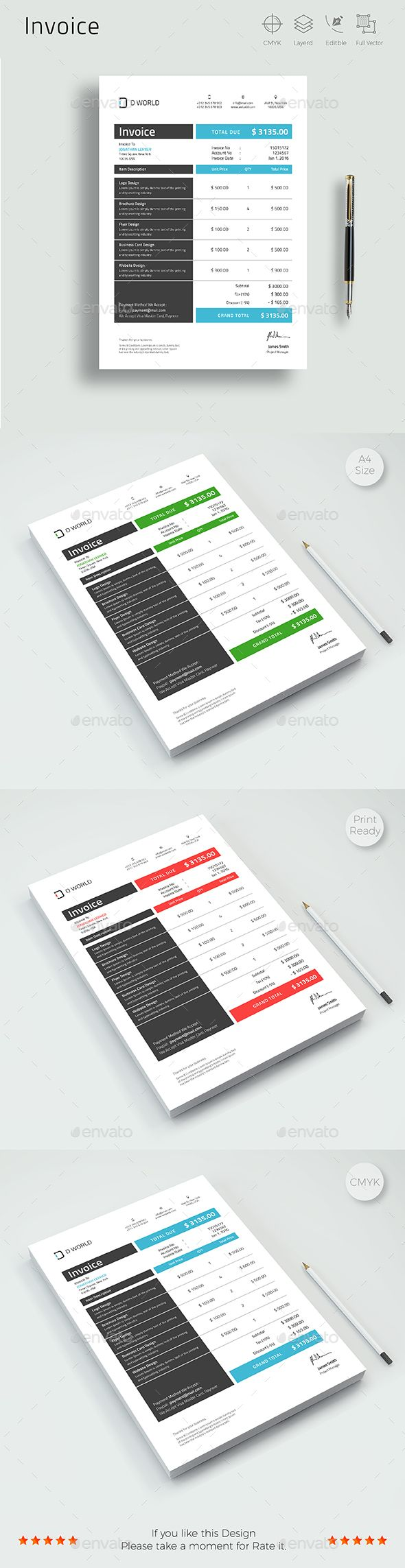Invoice Template PSD, Vector EPS, AI Illustrator. Download here: http://graphicriver.net/item/invoice/16703586?ref=ksioks