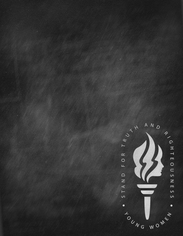 mormon share young women torch chalkboard poster template lds yw