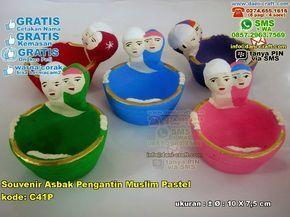 Souvenir Asbak Pengantin Muslim Pastel 991 WA/SMS/TELP 0896 3012 3779 Pin BB 5E 9C1 BC6 #SouvenirAsbak #DistributorAsbak #souvenirMurah