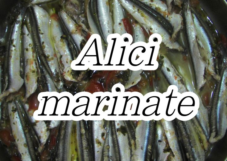 Secondo - Alici con il pomodoro marinate