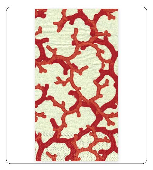 Red Coral Decorative Paper Hand Towels.