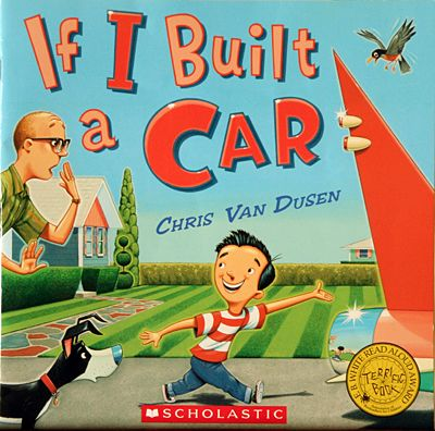 After reading this book we provide the children with boxes, paper towel rolls, caps, cut shapes etc.  So they can built their own car (or whatever they want).  Some of the children made other transportation devices too.  We also saw airplanes and boats.
