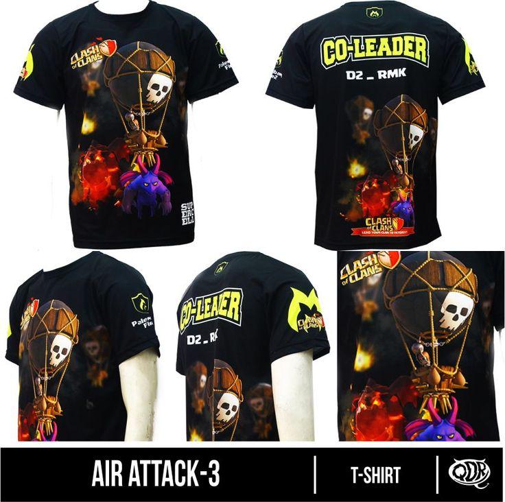 Jersey Clash Of Clans-Air Attack Bahan;Dry-Fit Polyester printing: sublimasi (Gratis penambahan nama id,nama&logo clan,jabatan) pemesanan hub: BBM 543d3dbb Qdr Online shop WA 081222970120