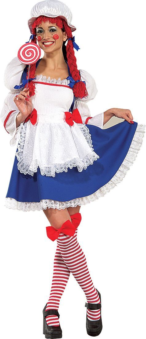 adult classic rag doll costume party city - Classic Womens Halloween Costumes