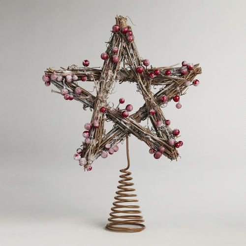 One of my favorite discoveries at WorldMarket.com: Iced Berry Twig Tree Topper