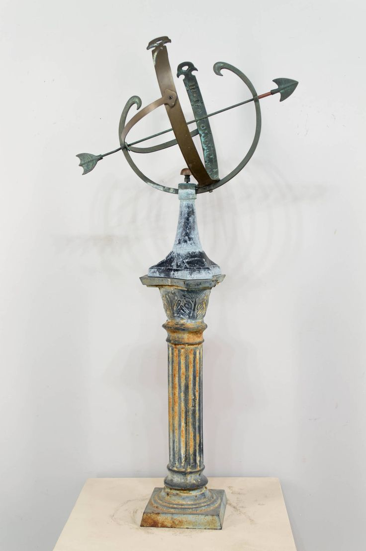 Cast Iron and Copper Armillary | From a unique collection of antique and modern sundials at https://www.1stdibs.com/furniture/building-garden/sundials/