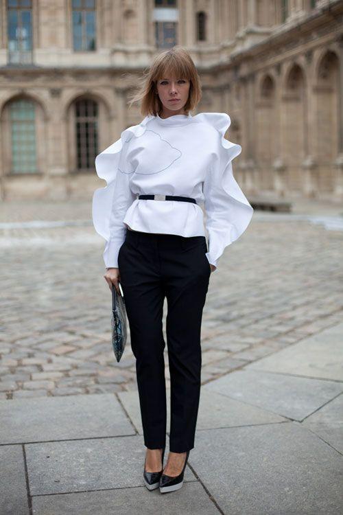 Vika in Paris….Mary Katrantzou's Clutch. Clothing Vika's own Collection!♥