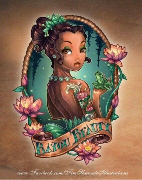 Tiana Pin-Up Tattoo