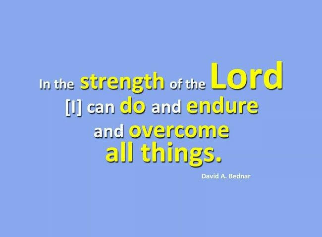 Draw on the strength of the Lord