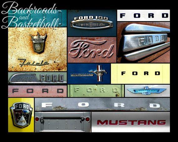 Ford Logos Collage Fine Art Home Decor Wall Art Photo Print