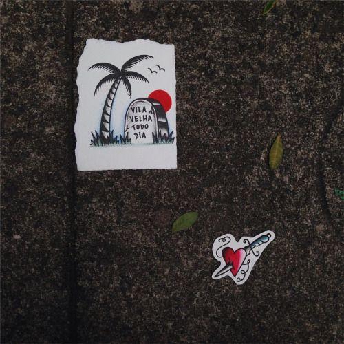 Tô com vários desenhos legais, todos p ir p pele! 💉 #tattooflash #traditionaltattoo #vvtd #diguila (at Praia Da Costa - Vilha Velha, Es)