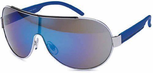 Designer Sonnenbrille Brille Pilotenbrille für Damen und Herren 2592 (2192 blau verspiegelt)