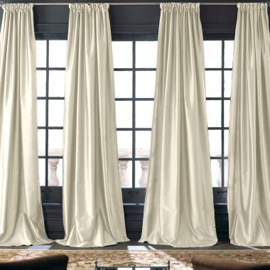 Royal Velvet Grandeur Silk Rod Pocket Back Tab Curtain Panel Found At Jcpenney Window