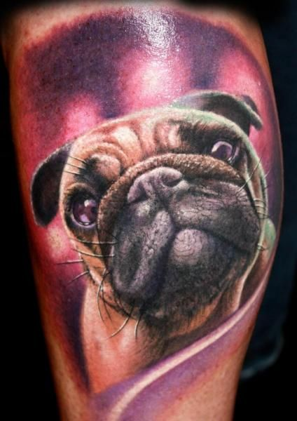 Realistic Dog Tattoo by Corpse Painter