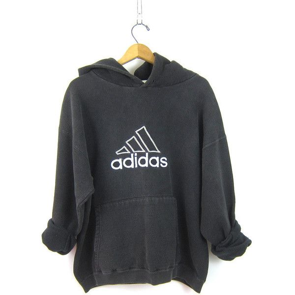 90s ADIDAS HOODIE Sports sweatshirt sporty sweater Black White cotton... ($45) ❤ liked on Polyvore featuring tops, hoodies, cotton hoodie, sports hoodies, tall hoodies, sweatshirt hoodies and tall hoodie