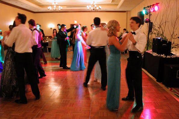 Putting into practice their ballroom dancing skills