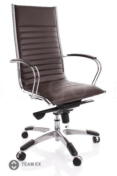 Team Ex - эргономичное кресло с высокой спинкой и металлическим краем