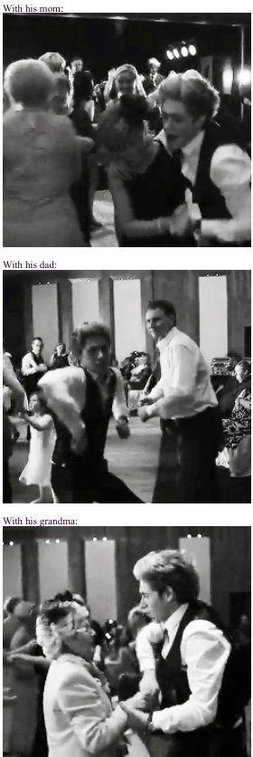 Niall dancing at Greg's wedding.... OMG he's a drunk wedding dancer. NIALL HORAN IS A DRUNK WEDDING DANCER. -E