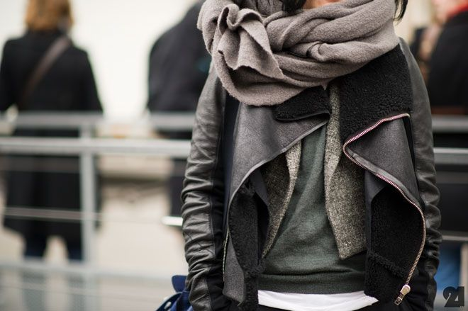@Rebecca Minkoff's Top Personal Style Rules: A scarf is a fabulous way to complete an outfit.