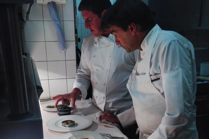 Training the floor team of Hibiscus restaurant on the 7 courses of the four hands menu.  Chef Claude Bosi and Chef YANNICK ALLENO are ready to welcome you in London these next two nights!!!