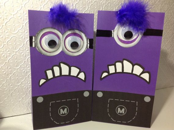 Despicable Me Minion Birthday Party Purple Crazy by EpicEvent, $15.00