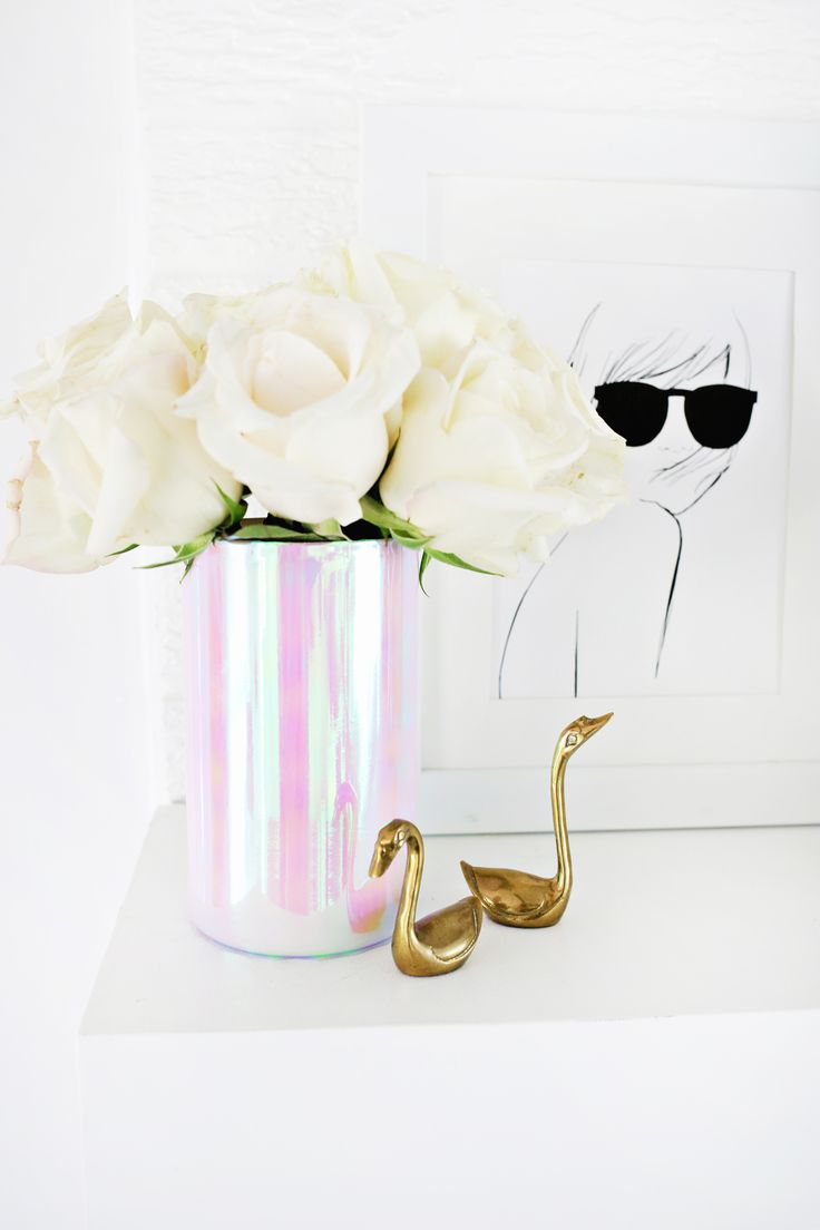 Holographic Vase DIY | A Beautiful Mess | Bloglovin'