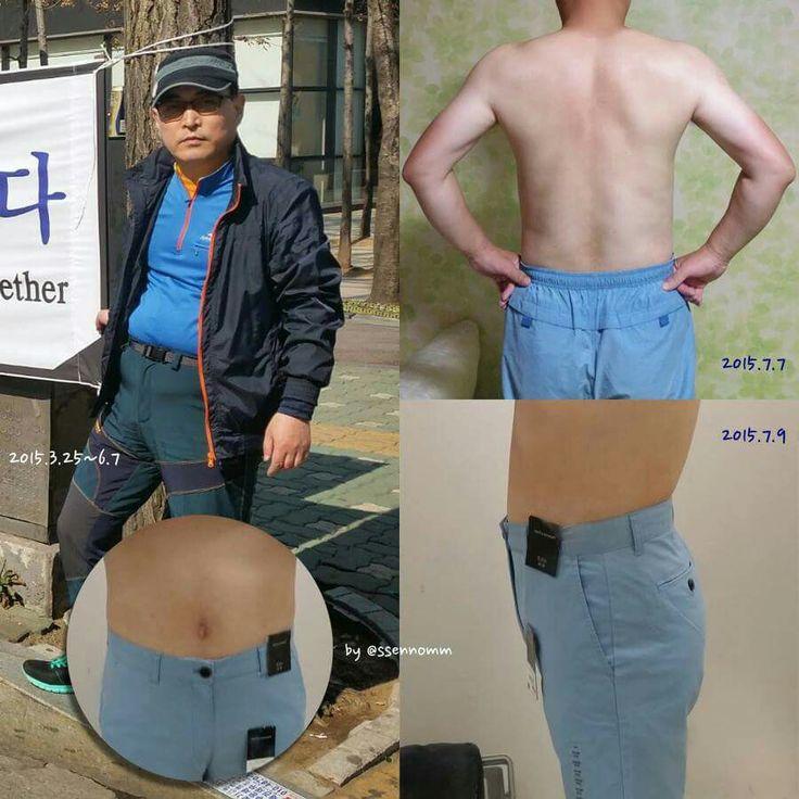 """▶건강하게 살을 빼고, 운동합시다. """"오데로 갔나~♪ 배둘레햄~♬""""  사진의 왼쪽은 올해 3월 25일에 찍은 사진입니다. 저 <몹쓸 몸>으로 6월 7일까지 생각없이 살아왔습니다. <6월 6일 현충일>에 서울에서 만났던 분들은 저 <몹쓸 몸>을 기억할 겁니다. ≪이젠★잊어버리십시오!≫   뱃살을 빼겠다고 마음먹고 <6월 8일부터 실행에 옮겨서> 8일만에 똥배를 완전히 뺐고, 12일째 되는 날부터 (동네 공원에 있는 운동기구로) 웨이트 트레이닝을 시작했습니다. 딱 4일간 운동했는데도 몸이 달라지는 것을 느끼겠더군요.  이제 살 빼며, 운동한지 한달쯤 지났습니다. 애초에 예고한대로 두달만에 배에 식스팩까지 장착해 보이겠습니다."""
