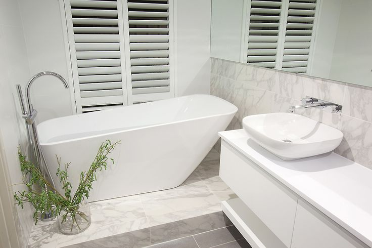 This beautiful bathroom is part of the #SouthportPlatinum display home, designed and built by #HomeGroupWA.