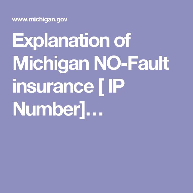 Benifits Of Michigans No Fault State Car Insurance