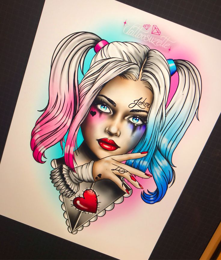 Pin-Up Harley Quinn Girl with Toy Gun   Etsy