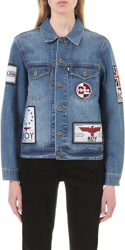 Pin for Later: 33 Jackets That'll Make Your Denim Dreams Come True Boy London Patch-Appliqué Denim Jacket Boy London Patch-Appliqué Denim Jacket (£135)