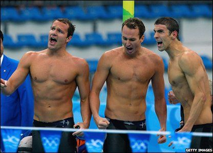 Team USA win 4x100m medley - Michael Phelps takes his 8th Gold medal - Beijing Olympics 2008