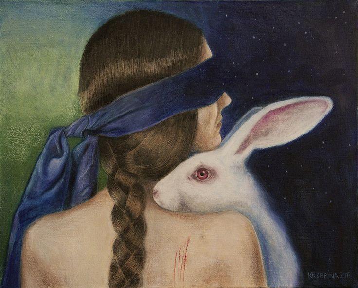 Joanna Krzepina - Alicjo, księżyca nie ma. pastele olejne, płótno 50x40  2013