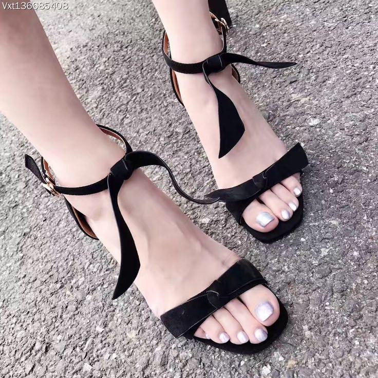 GLTER Femmes Peep Toe Ankle Strap Butterfly Décoré Multi-Color Flat Shoes Large Sandals , red , 39
