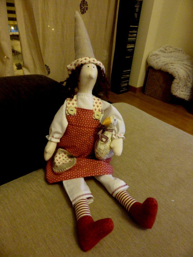 Muñeca Bruja Buena Panpina. Sorgin zintzoa. Tilda Doll