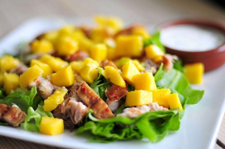 Dit recept voor makreelsalade met mango is simpel en snel om te maken, erg lekker en prima om als lunch mee te nemen naar bijvoorbeeld je werk.