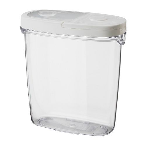 Great for pantry organization and much cheaper and more attractive than tupperware! Ikea $3 each 2 sizes..