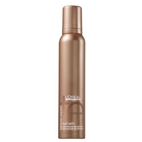 L'Oreal Texture Expert Curl Satin Rich Definition Mousse - 6.8 oz by L'Oreal Professionnel Paris. $22.00. L'Oreal Texture Expert Curl Satin Rich Definition MousseFor thick curly hair, helps provide curl definition and a satin soft touch. Incell helps to repair and reinforce sensitized hair. Formulated with Pearl Protein derivative, a UV filter and vitamin E acetate.Use: Shake well. Dispense one or two swirls of mousse between the hands. Apply to clean towel-dried ha...