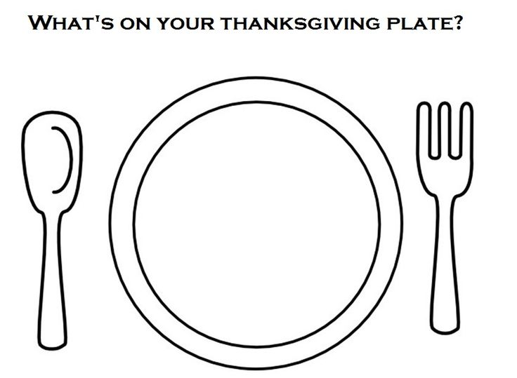 dinner plate coloring page - cut pictures of different foods and have kids glue what