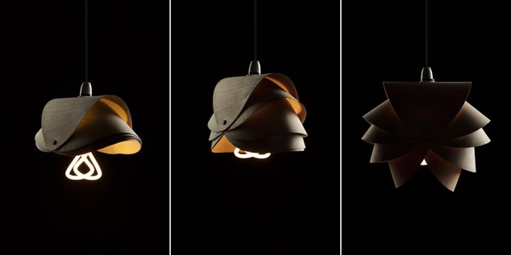 Lamp shade designs for the Plumen 001 Bulb from Middlesex University