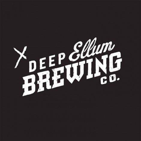 Awesome combination of script, industrial-looking sans serif, and slab serif. Deep Ellum Brewing Co.