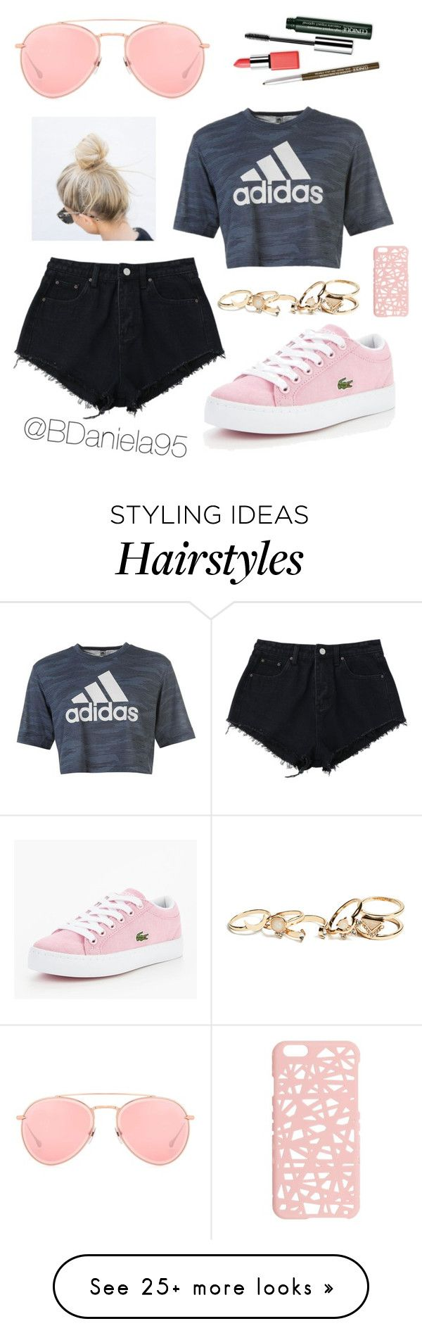 """Untitled #287"" by daniela95140 on Polyvore featuring Dita, adidas, Lacoste, Clinique, Miss Selfridge and GUESS"