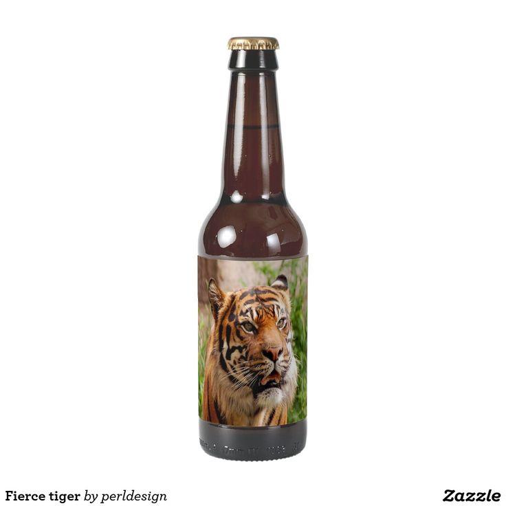 Fierce tiger beer bottle label
