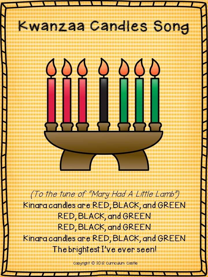 Kinara candles Song for Kwanzaa!