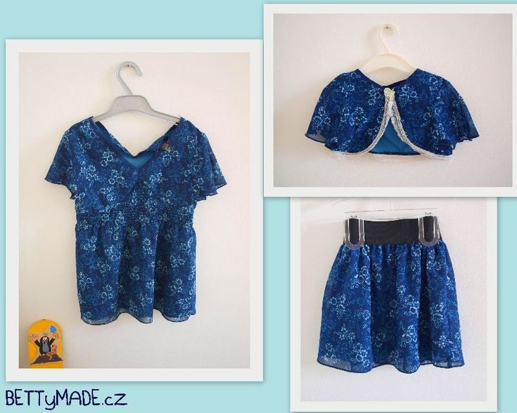 top and skirt - refashioned top